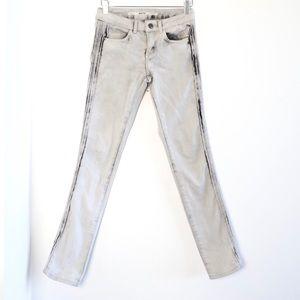 Topshop MOTO skinny rare side stripes pleated jean